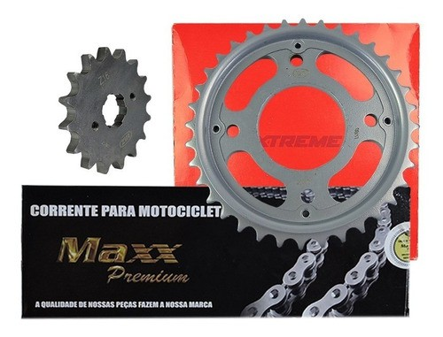 Kit Relacao + Lona De Freio Traseira Yamaha Xtz 125