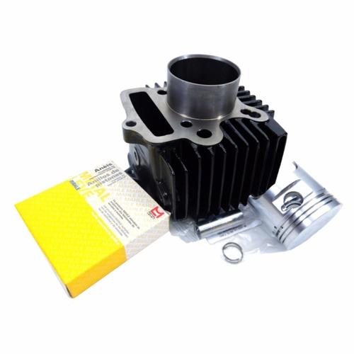 Kit Superior Motor Biz 100 2005 Cilindro+retentor+válvulas