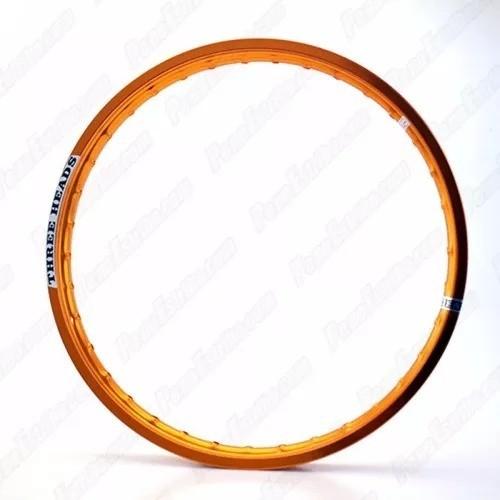 Par Aro Roda Alumínio Dourado Nxr Bros 2.15-17 + 1.85-19