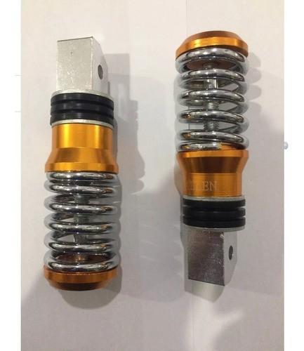 Par Pedaleira Traseira Aluminio Vermelha Cg Titan Tenere250