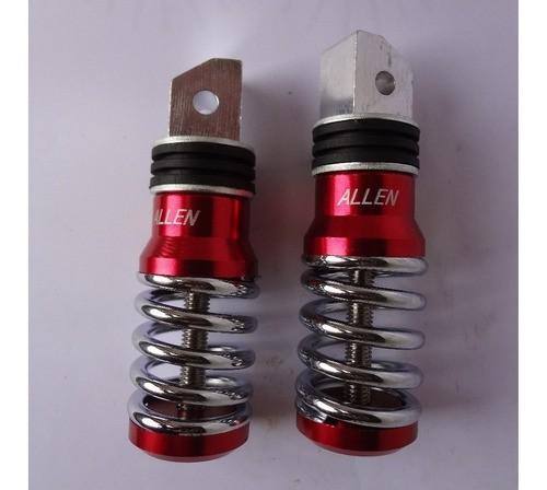 Pedaleira Traseira Aluminio Vermelha Titan / Tenere