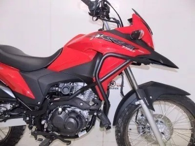 Protetor Motor Com Pedaleira Honda Xre190 Preto Fosco