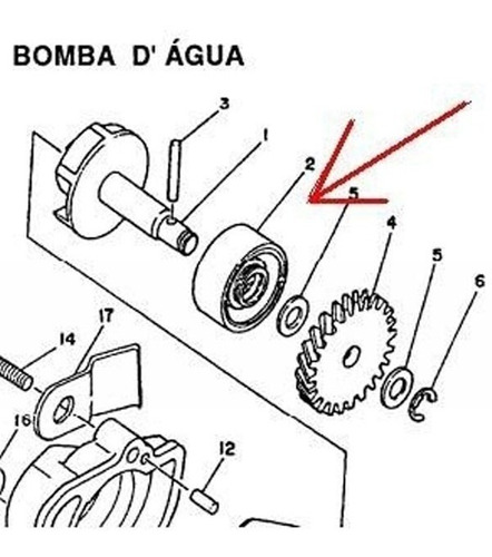 Retentor Da Bomba De Água Yamaha Dt200 Rd350 - Rto