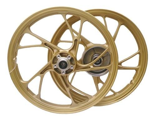 Roda Titan 150 Fan 150 04/13 Esd 5p Mod160ex S/cam Dourada