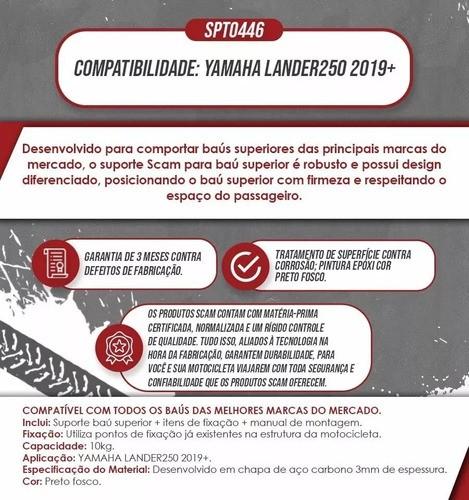 Suporte Bau Bauleto Bagageiro Lander 250 2019 +