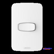 Interruptor simples 10A 250V Branco  com placa 4x2 - Linha Gracia