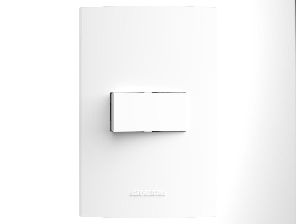 Conjunto 1 Interruptor com placa e suporte 4x2 Inova Pro - Alumbra