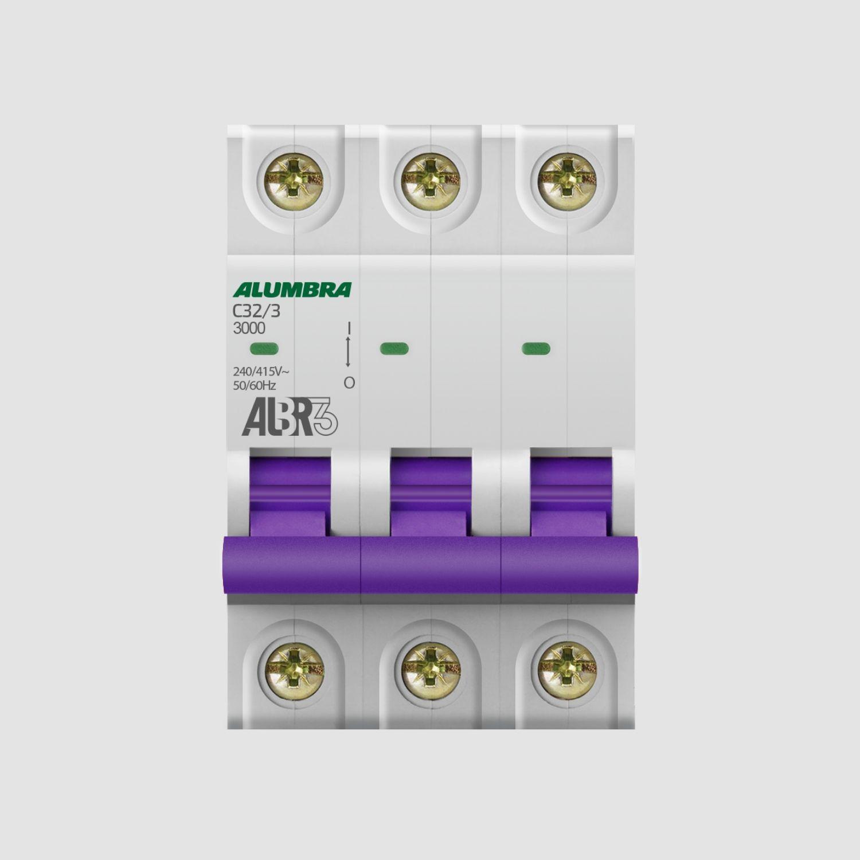 Disjuntores Tripolares 6 até 63A - Alumbra