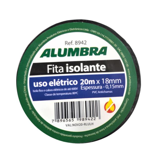 FITA ISOLANTE EM PVC - 18mm x 0,15mm