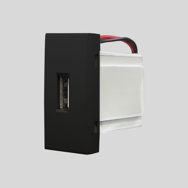 Módulo Tomada USB 2A Bivolt linha Inova Pro Class