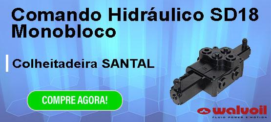 comando hidráulico walvoil santal