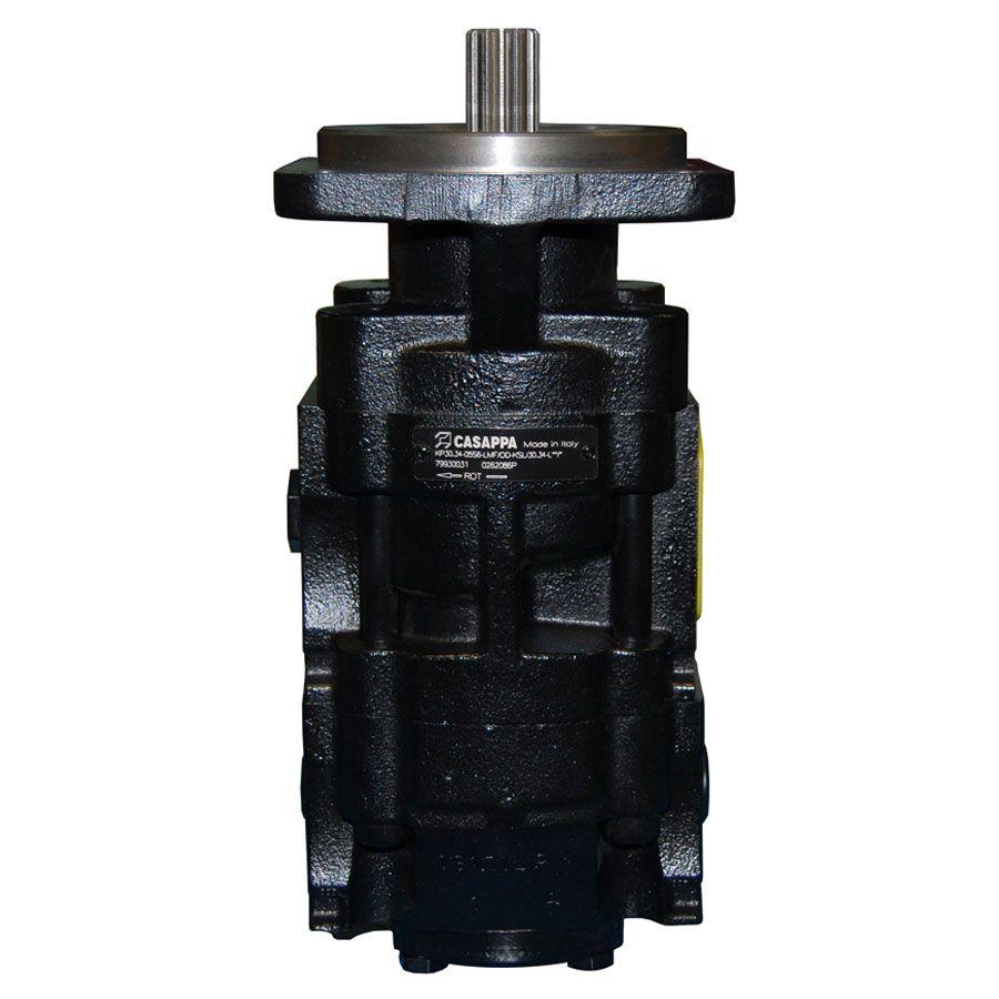 Bomba Hidráulica Casappa Retroescavadeira New Holland CNH KP30.34 (79930031) S/ Válvula Load Sensing