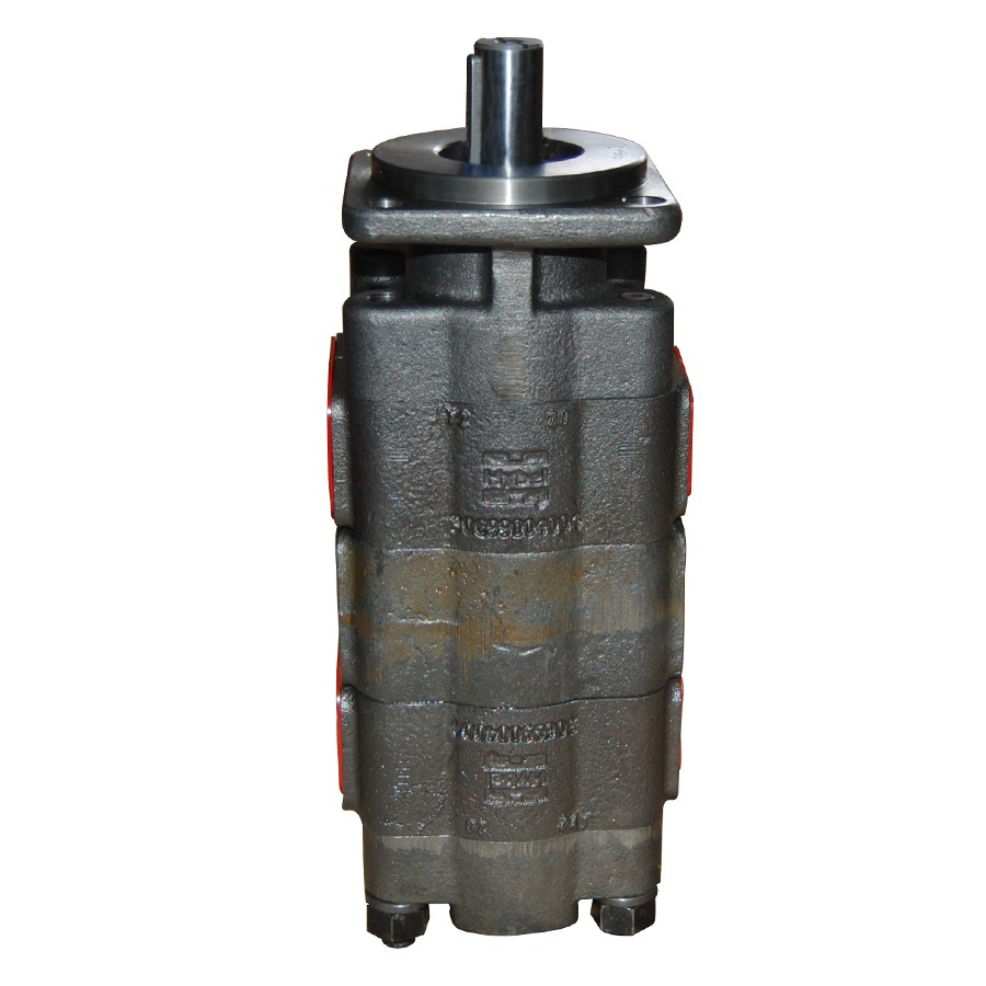 """Bomba Hidráulica Dupla Anti-Horária Eixo Chavetado 1"""" Flange 4 Furos 48 Cm³ - Hybel 30112048023"""