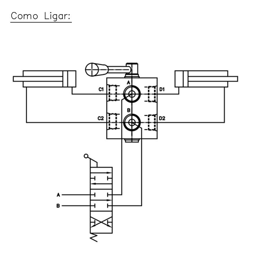 Válvula Hidráulica Control Star Seletora 200029