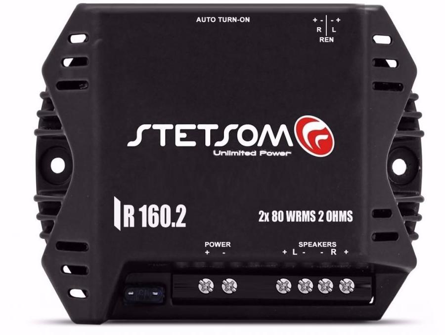 Amplificador Mini P/Auto 02 Canais Stetsom Iron Line Digital IR-160.2
