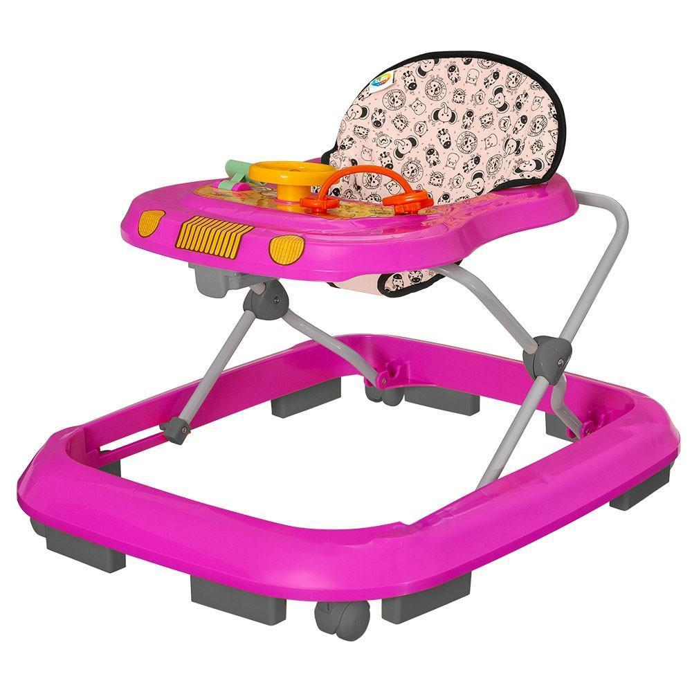 Andador P/Bebê Tutti Baby Safari 02003.30 (rosa)