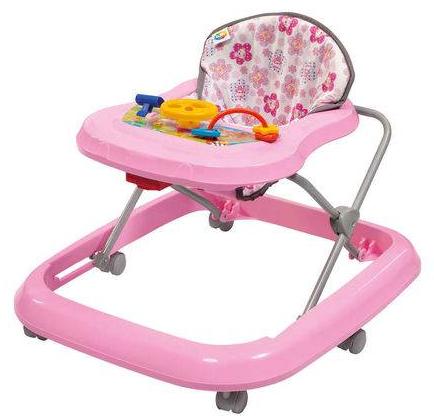 Andador P/Bebe Tutti Baby Toy 02003.28 (rosa) (ate 15kg/bandeja com brinquedos/04 niveis de altura) (rosa)