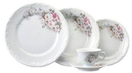 Aparelho De Jantar/Chá Em Porcelana 20 Peças Schmidt Eterna 5789.020.114.003.E351