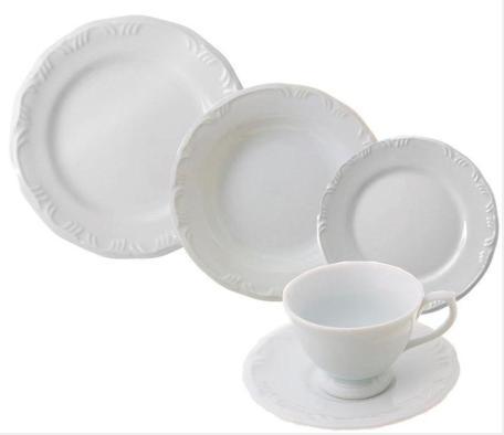 Aparelho De Jantar/Chá em Porcelana 20 pcs Schmidt Pomerode 578.9.020.114.058.000 (branco)