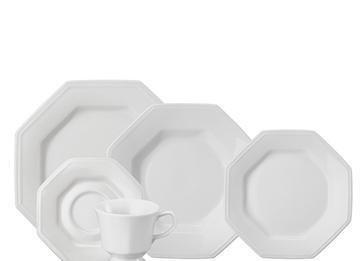 Aparelho de Jantar/Chá em Porcelana 20 Pcs Schmidt Prisma 5789.020.077.003.058.0000 (branco)