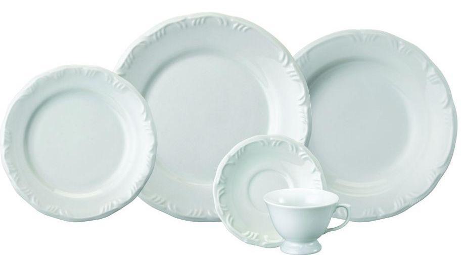 Aparelho de Jantar/Chá em Porcelana 30 Pcs Schmidt Pomerode 05789.030.114.003.058.0000 (branco)