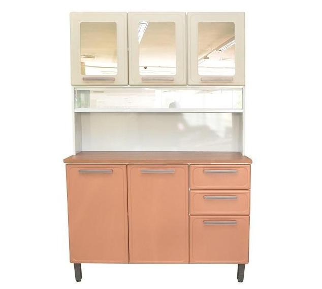 Armário de Cozinha 6P Bertolini Origens 7146 (branco/terracota)
