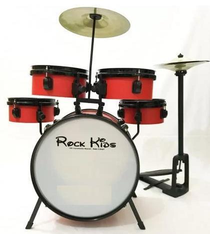 Bateria Musical Infantil RMV PBKC14020 (vermelho)
