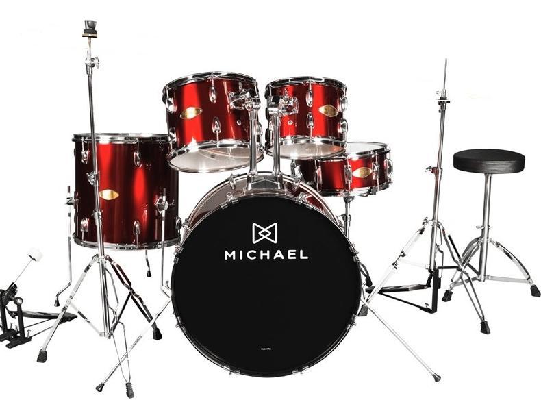 Bateria Musical Michael DM-827WR (vinho)