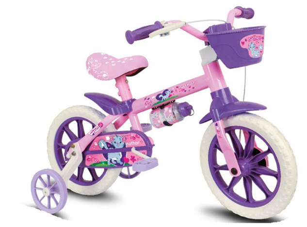 Bicicleta Infanto-Juvenil Aro 12 Cairu Nathor CAT 114670 (rosa/lilas)