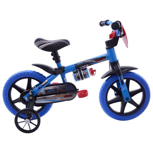 Bicicleta Infanto-Juvenil Aro 12 Cairu Nathor Veloz 116637 (azul/preto)