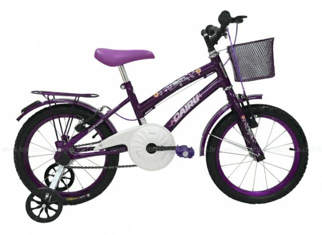 Bicicleta Infanto-Juvenil Aro 16 Cairu Flowers 310090 (violeta)
