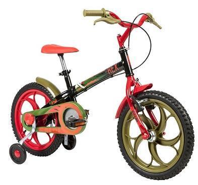 Bicicleta Infanto-Juvenil Aro 16 Mas. Caloi Power Rex (preto)