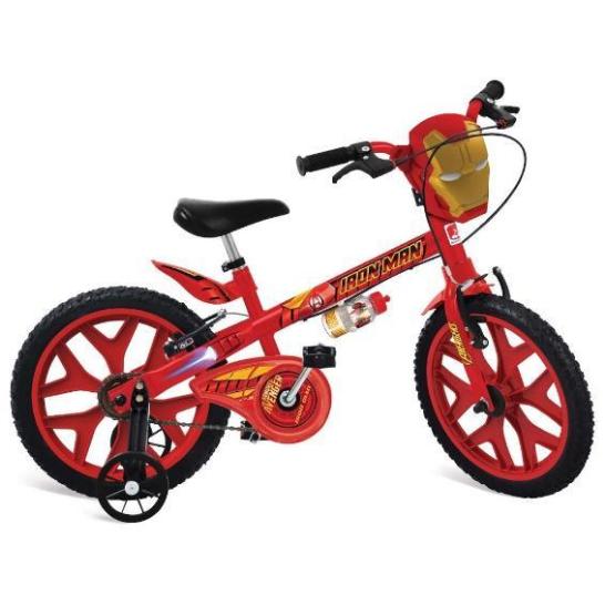 Bicicleta Infanto-Juvenil Aro 16 Masc. Bandeirantes Homem De Ferro 2409 (vermelho)