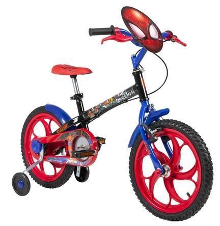 Bicicleta Infanto-Juvenil Aro 16 Masc. Caloi Spider Man (preto)