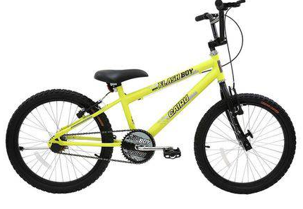 Bicicleta Infanto-Juvenil Aro 20 Cairu Flash Boy 317267 (verde neon)