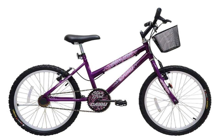 Bicicleta Infanto-Juvenil Aro 20 Cairu Star Girl 310154 (violeta)