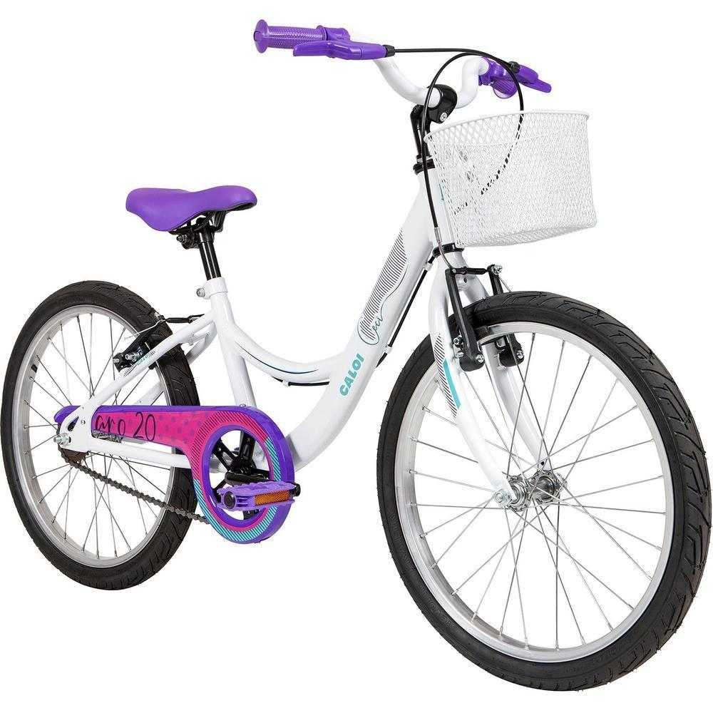 Bicicleta Infanto-Juvenil Aro 20 Feminina Caloi Ceci (branco/lilas)