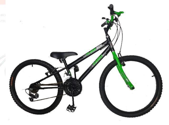 Bicicleta Infanto-Juvenil Aro 24 Cairu Flash Boy 317255 (preto/verde)
