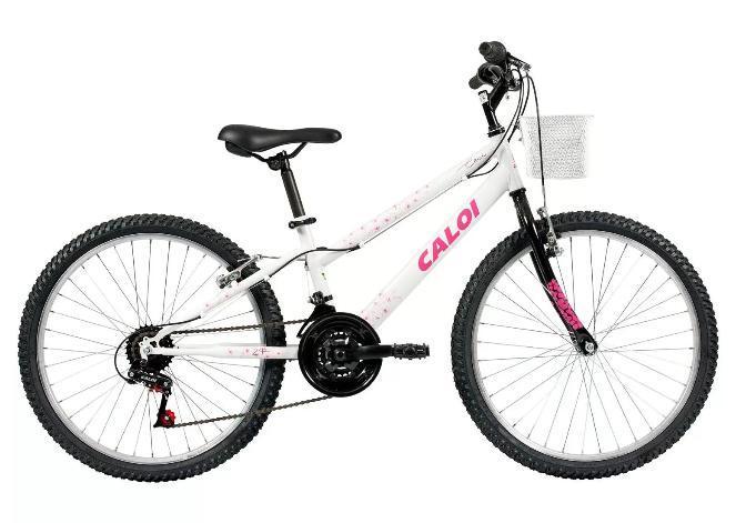 Bicicleta Infanto-juvenil Aro 24 Feminina Caloi Ceci (branco)