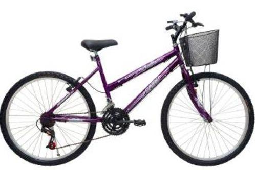 Bicicleta Infanto-Juvenil Aro 24 MTB Cairu Bella 310915 (violeta)