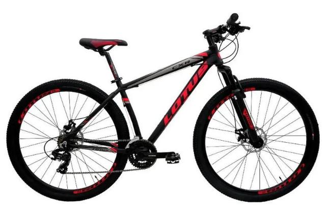 Bicicleta Mountain Bike Aluminio Aro 29 Cairu CXR Lotus 317040 (preto/vermelho)