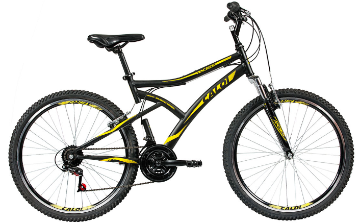 Bicicleta Mountain Bike Aro 26 Caloi Andes (preto fosco)