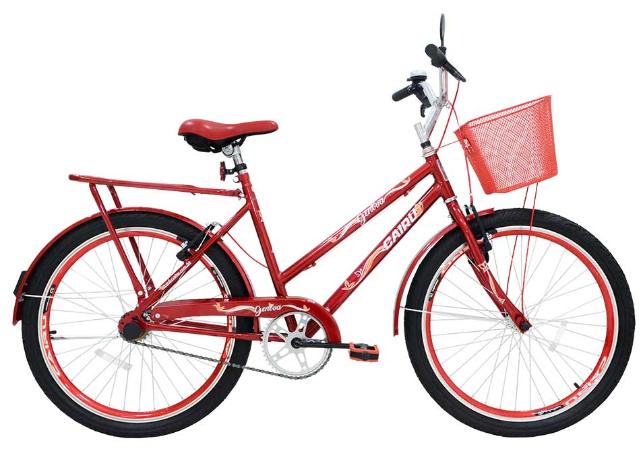 Bicicleta Transporte Aro 26 Cairu 310122 (vermelho)