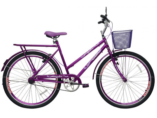 Bicicleta Transporte Aro 26 Cairu Genova 310123 (violeta)