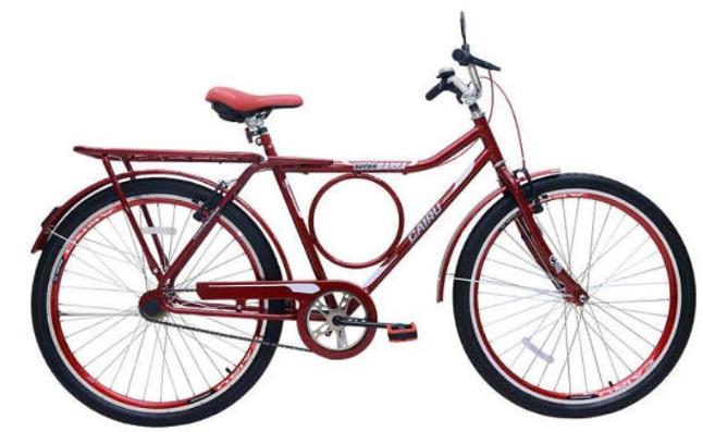 Bicicleta Transporte Aro 26 Cairu Super Barra Forte 310133 (vermelho)