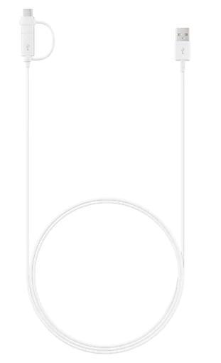 Cabo USB Combo Cable Samsung Type C EP-DG930DWPGBR (Branco)