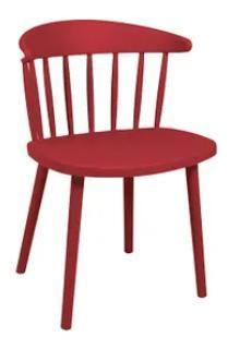 Cadeira Plastica Mor Dona Francisca (vermelho marsala)