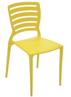 Cadeira Plástica Tramontina Sofia 92237/000 (amarelo)