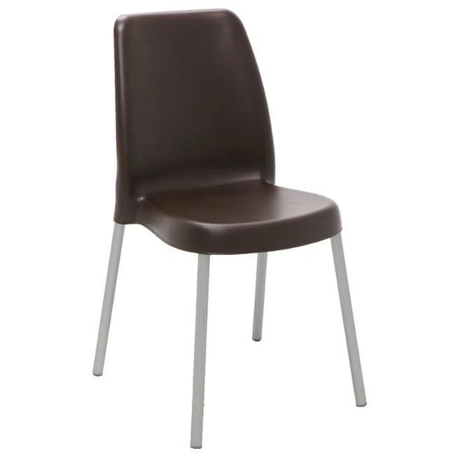 Cadeira Plástica Tramontina Vanda 92053/919 (marrom)