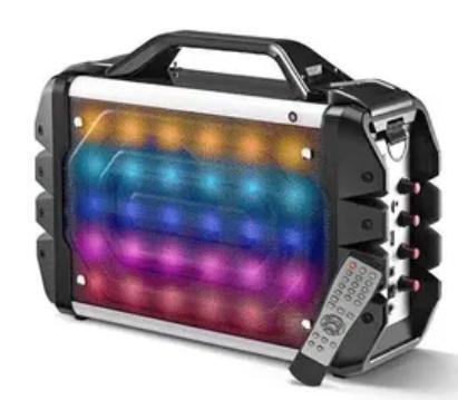 Caixa de Som Portatil Multilaser SP251 (sistema de som 6 em 1/bluetooth/cr/01 microfone/sd/fm/100w rms)